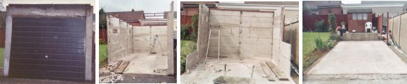 Demolition Of Concrete Garage With Asbestos Roof